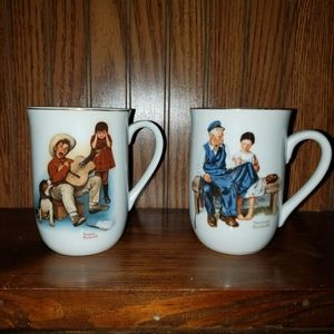 Other - 2 Norman Rockwell mugs